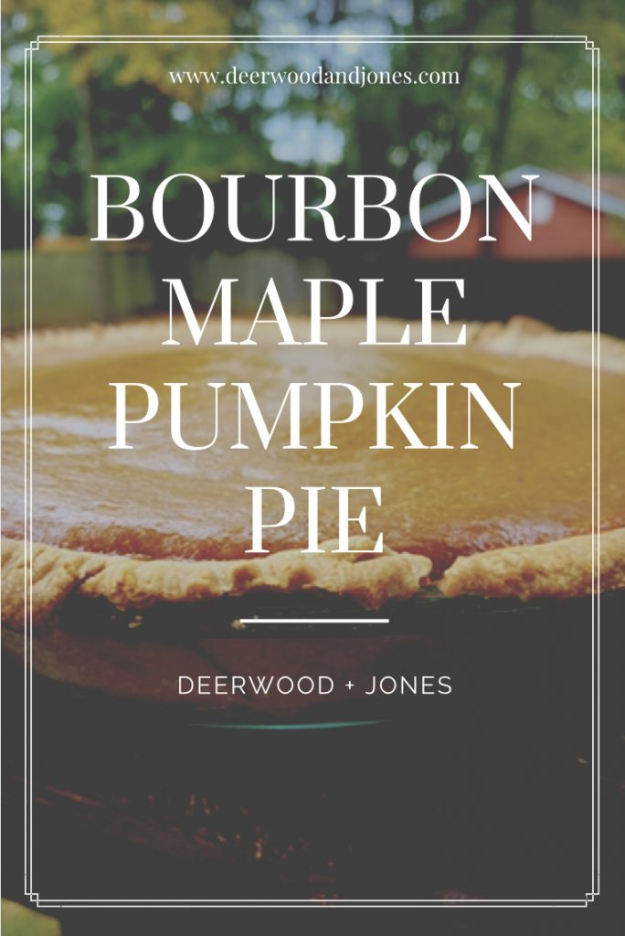 Bourbon Maple Pumpkin Pie Outdoors on autumn day